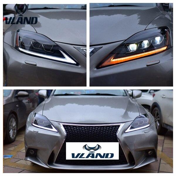 Montagem Do Carro para IS250 VLAND Head light para IS350 IS300 Farol 2006-2012 para IS220d/É F Cabeça lâmpada com movendo sinal da volta