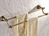 Antique Brass Double Towel Holder Towel Rail Wall Mounted Towel Bar Rack Bathroom Accessories Bba425
