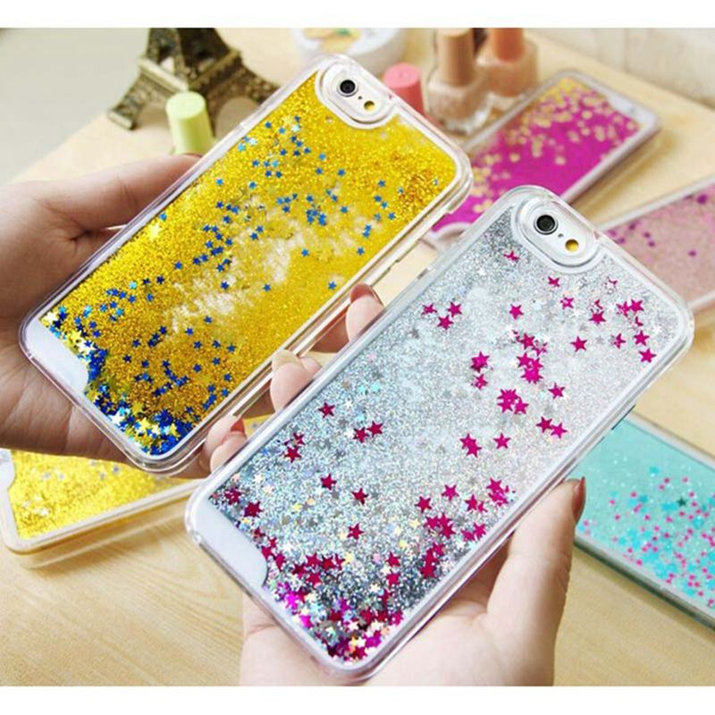 Top sale! Fashion Dynamic Liquid Glitter Quicksand Star phone Case For iphone 4s 5 5s 6 6s 6Plus Crystal Clear phone Back Cover