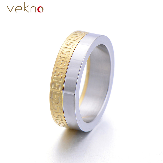 Rock Style Wedding Bands Male Ring New Fashion Roma Numeral Spinner Stainless Steel Men Engagement