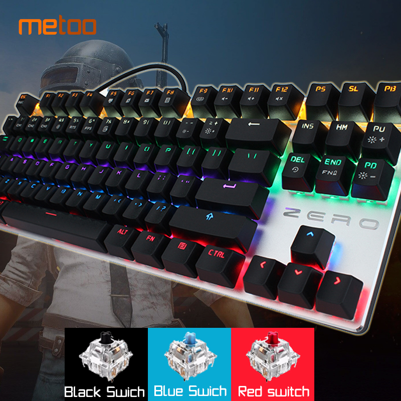 2018 new Gaming Wired Mechanical Keyboard 87/104 keys Blue/Black/Red Switch LED Backlit Anti-Ghosting for Game Russian/English