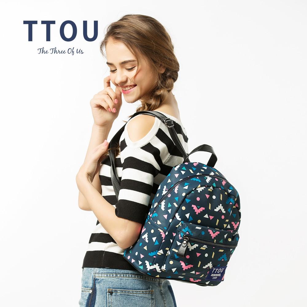 TTOU дизайн цветни триъгълник печат - Раници - Снимка 2