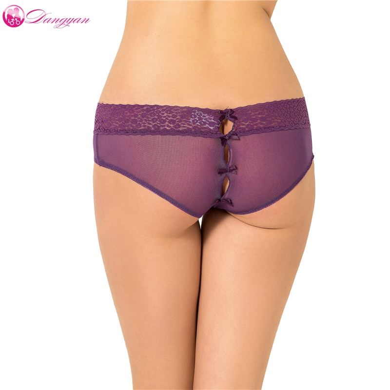 Buy DangYan Plus Size Sexy Holiday Peek Boo Back Mesh Crotchless Valentines Panty sexy lingerie porn erotic briefs sex product
