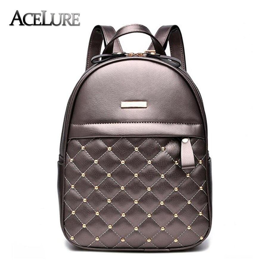 Acelure Для женщин рюкзак Лидер продаж Модные Повседневные Сумки Высокое качество из бисера женская сумка из искусственной кожи Рюкзаки для Обувь для девочек Mochila