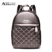 Women Backpacks 2016 Hot Sale Fashion Causal Bags High Quality Bead Female Shoulder Bag PU Leather