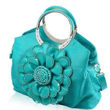 ฤดูใบไม้ผลิผู้หญิงกระเป๋าหนังดอกไม้ใหม่ขนาดใหญ่หรูหรากระเป๋าถือผู้หญิงกระเป๋าออกแบบC Rossbody