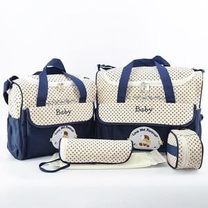 Image 4 - MOTOHOOD 5 adet bebek bebek bezi çantaları setleri anne analık çanta yüksek kapasiteli çok fonksiyonlu seyahat Nappy çanta düzenleyici fermuar