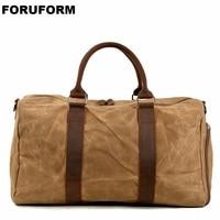 Waterproof Canvas Men Travel Bags Carry On Luggage Bags Men Duffle Bag Travel Tote Weekend Bag High Capacity Dropship LI 2513