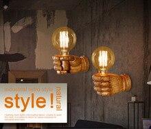 Classical Resin Fist Wall Lamps Corridor Lights Living Room Bedroom Lighting AC90V-265V Retro E27 Edison bulb Aisle Light