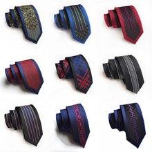 Новое поступление, мужские галстуки, 6 см, тонкий Шелковый галстук, Повседневная мода, британский стиль, Свадебный узкий галстук, подарки для мужчин