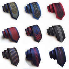 New Arrival Mens Ties 6cm Narrow Silk Tie Casual Fashion British Style Wedding Necktie
