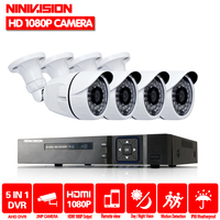 HIDESTE Home 8CH AHD H CCTV System 1080P DVR 4PCS 1080P AHD SONY CCD Waterproof Outdoor