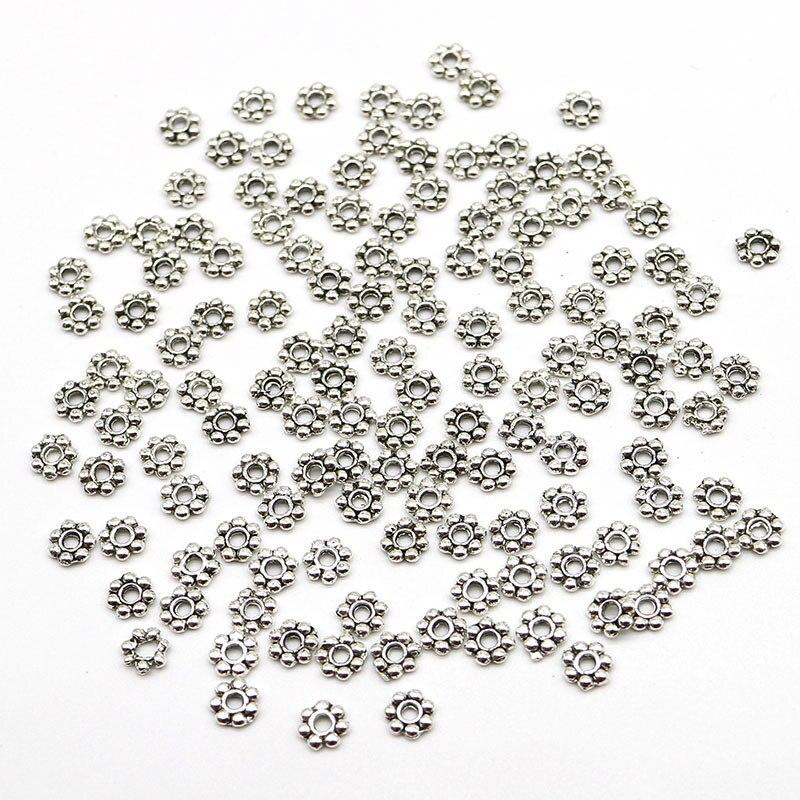Оптовая продажа 500 шт. AAA 4 мм отверстия 1 мм колеса Металлические Распорки бисер золотого, серебряного цвета AB покрытием полые шарики для ювелирных изделий DIY
