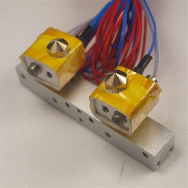 1 setx FLASHFORGE dual Extruder Assembly full kit for Flashforge 3D printer hotend spare parts