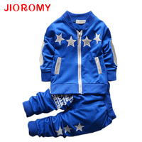 JIOROMY Boys Clothing Sets Spring Autumn Children Boys Sport Suit Kids Stars Christmas Clothes Tracksuit Baby