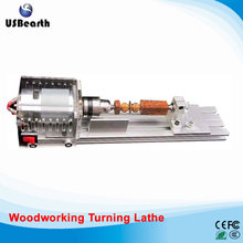Small micro beads polishing lathe cutting car beads machine mini DIY woodworking turning-lathe