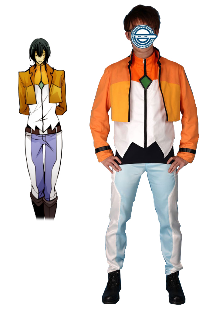 Free Shipping Gundam00 Celestial Being Alleulujah Haptism Gundam Meisters Uniform Anime Cosplay Costume
