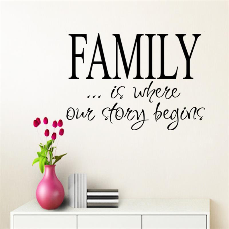 FAMILY is where our story Vinyl Wall Home Decor Decal