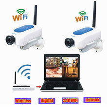 On sale Wireless CCTV video surveillance Camera 2.4ghz network 2 wifi mini digital camera USB DVR Kit Home Security System