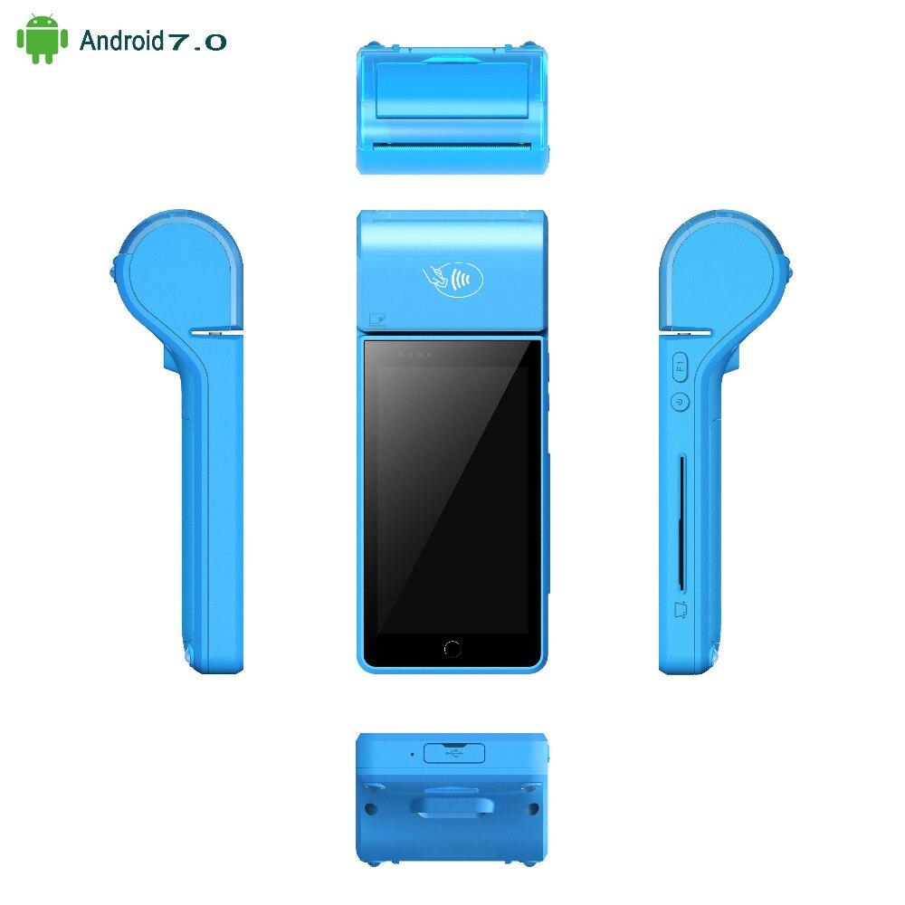 Système de point de vente au détail de terminal de position Mobile androïde 7.0 NFC RFID d'écran tactile tenu dans la main 5
