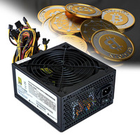1600W Power Supply 6 Gpu Mining Rig For Btc Gold Ethereum Monero Zcash Miner EM88