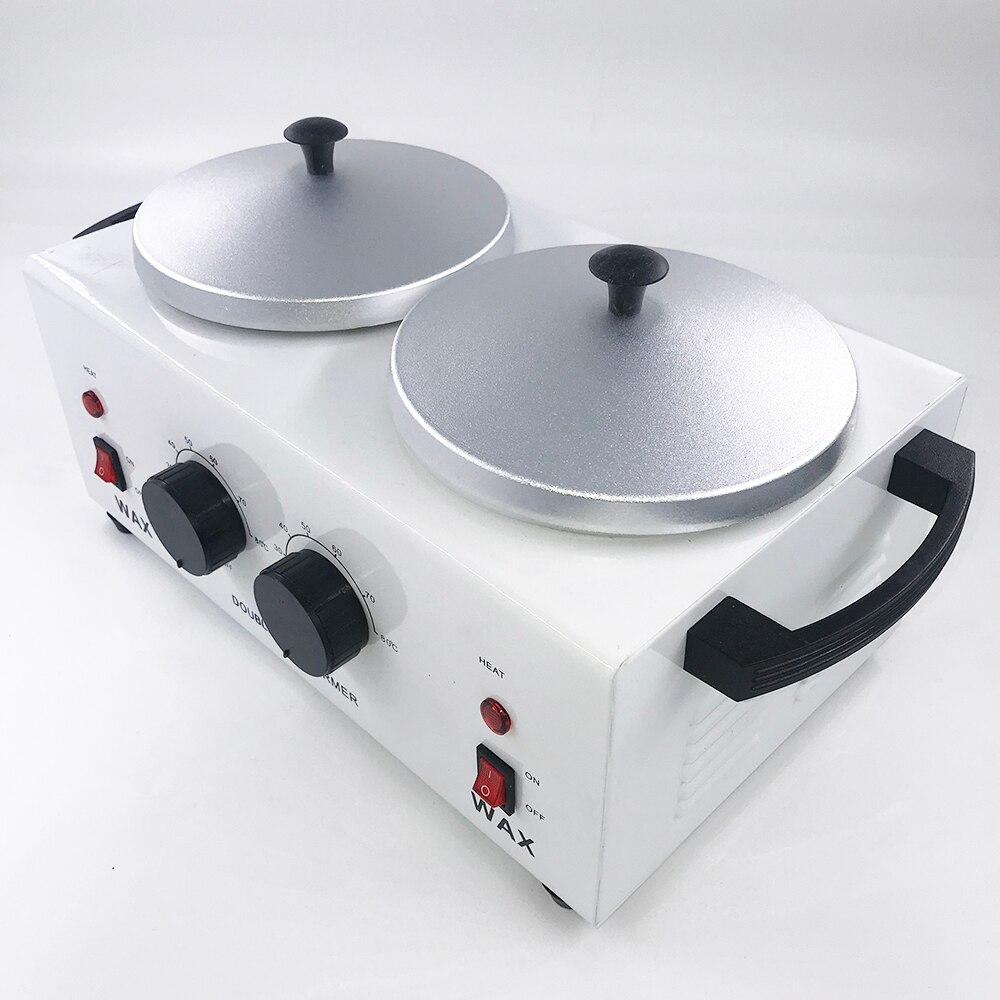 Double Depilatory Wax Heater Melting Machine Paraffine Warmer SPA Epilator Hair Removal Tool