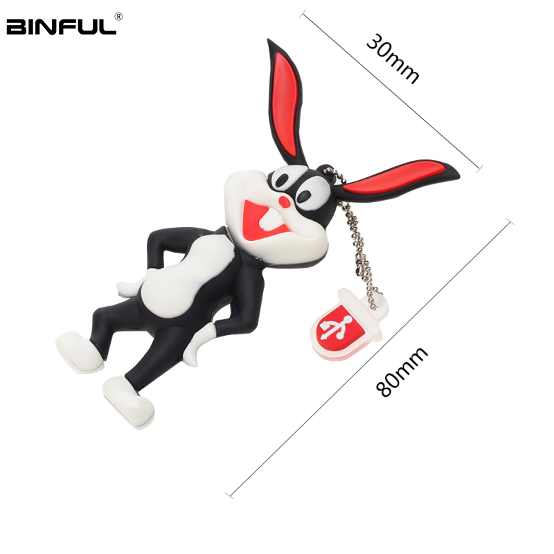 Image 4 - High Quality Usb Flash Drive 32GB Cartoon Animal Bugs Bunny Pen Drive 64GB 128GB U Disk Silicone Usb 2.0 16GB 8GB 4GB Pendrive-in USB Flash Drives from Computer & Office