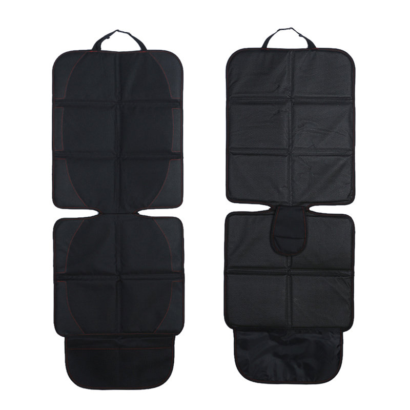Black Car Seat Cover with Mesh Pocket Bag Breathable Car Back Seat Protector car-styling covers for car seats Back