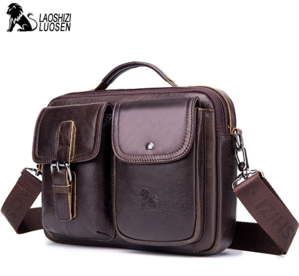 Vintage Messenger Bag Men Shoulder Bag Male Genuine Leather Men's bags Man Small Flap Casual Crossbody Bags for men handbags цена 2017