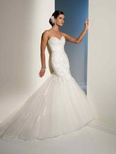 11-14 Beautiful Sweetheat Tulle Lace Ruffle Mermaid Wedding Dresses Designer
