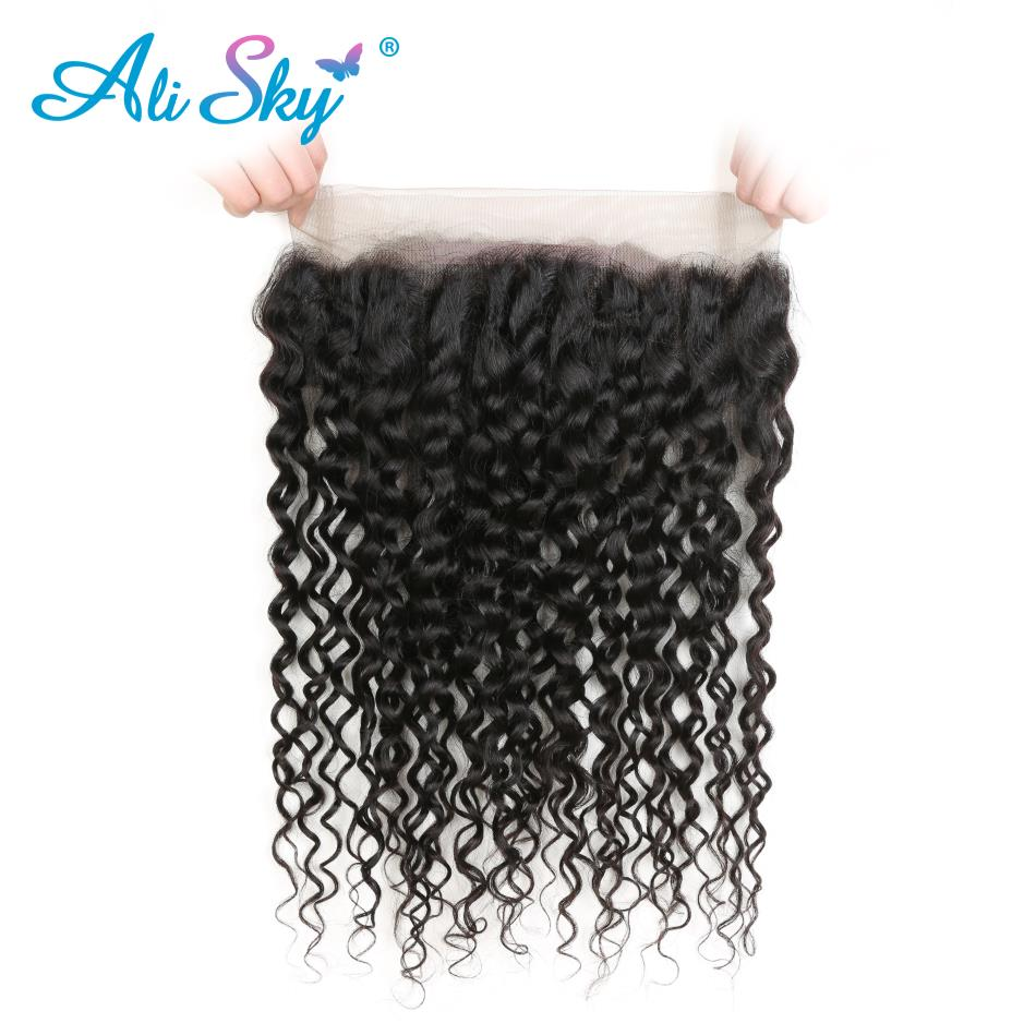 Alisky Hair 360 Lace Frontal Closure Brazilian Water Wave Hair 10 20 1 Piece Free Part