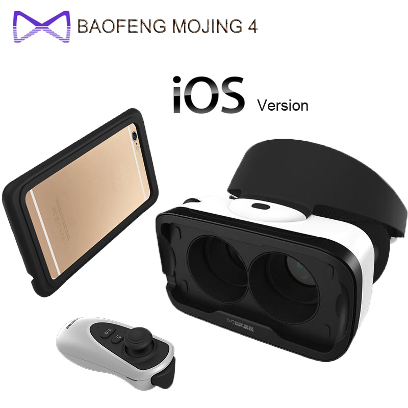 Original BaoFeng MoJing <font><b>4</b></font> <font><b>For</b></font> IOS 3D <font><b>VR</b></font> <font><b>Glasses</b></font> Box Virtual Reality Goggles <font><b>VR</b></font> <font><b>For</b></font> iphone <font><b>6</b></font> <font><b>Plus</b></font> <font><b>4</b></font>.7 - 5.5 inch Smartphones