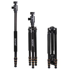 ZOMEI Z688 Professional Portable Camera Tripod Stand Monopod For DSLR Camera Digital Camera With Ball Head zomei z688 professional photographic travel compact aluminum heavy stable tripod monopod ball head for digital dslr camera excl