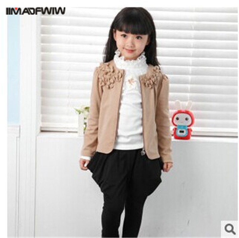 2016 Autumn New Korean Children Girls Clothing sets Fashion Korean Coat + Harem pants + T shirt 3 Pieces Kids Girl  Clothing Set 2016 korean style cute girl printed sets children s clothes short t shirts pants 2pcs girls clothing retial 0 4t kids coat