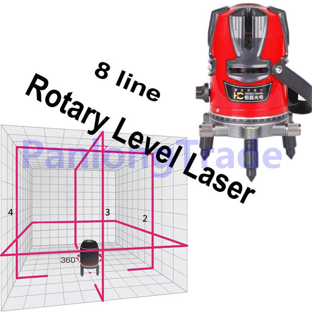 NEW 8 line Rotary Laser 4v4h1d Beam Self Leveling Interior Exterior horizontal Laser UPS EMS DHL Fedex Free Shipping dhl ems 1pc um 9230r takenaka photoelectric beam