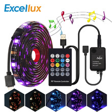 5050 RGB USB Led Strip Set With 20Key RF Remote Music Controller LED Light For TV Background Lamp Ribbon Tape