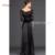 Vivian Nupcial Preto Mãe Da Noiva Vestidos de Colher 3/4 Mangas Lace Vestido de Noite Longo Mãe da Festa de Casamento Vestidos vestidos