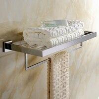 Contemporary Polish Modern Stainless Steel Bathroom Towel Holder Fashion Fixed Bathroom Towel Holder