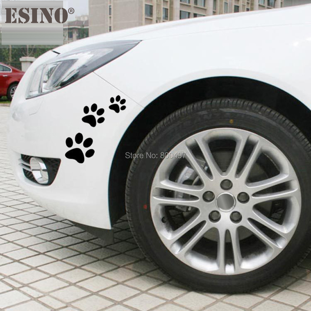 6 X Funny Creative Lovely Car Stickers Dog Cat Paws Pet Animal Footprints Decoration Car Whole Body Stickers Decal  Vinyl