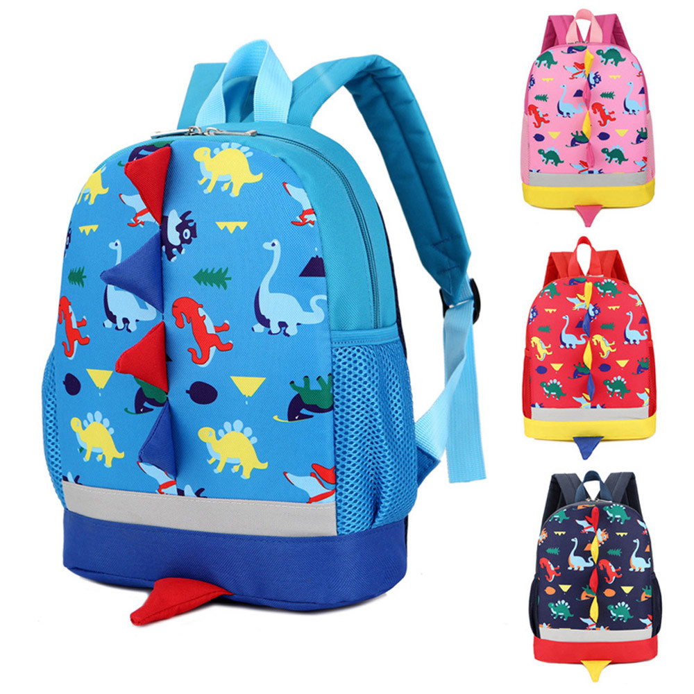 HIINST Toddler Kindergarten Plush Backpacks Fashion Soft Cloth Blue Kid School Bags Cartoon Shoulder Bookbags Dropship CC#