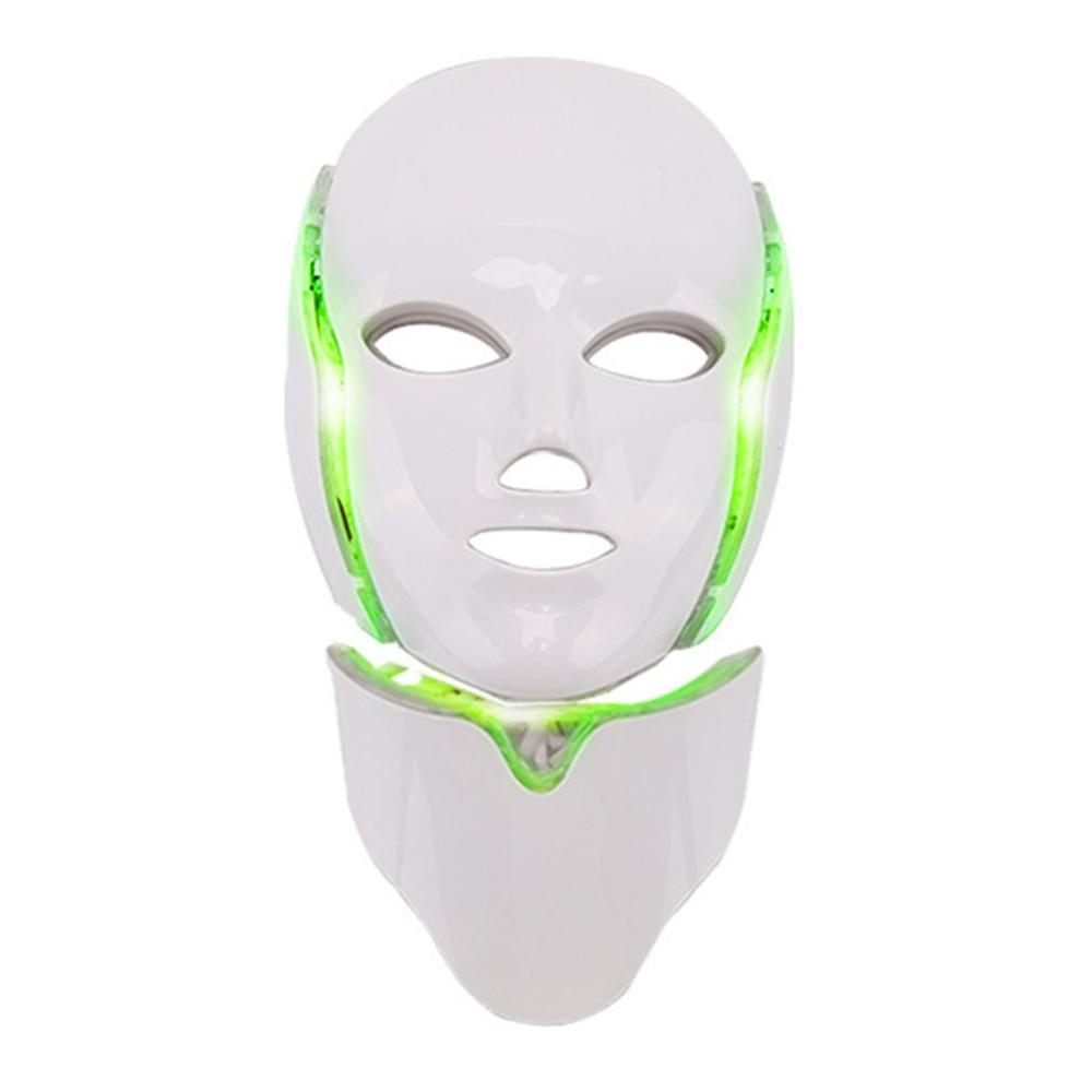 7 Colors Led Facial Mask Led Household Spectrometer Face Mask Machine Light Therapy Acne Mask Neck Beauty Led Mask Gift Box Pack