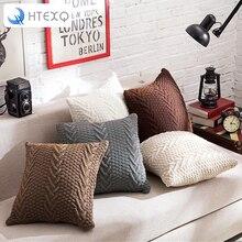 Nuevo diseño sólido de almohada funda para sofá decorativa throw plaza 45 cm capas cremallera de punto funda de cojín