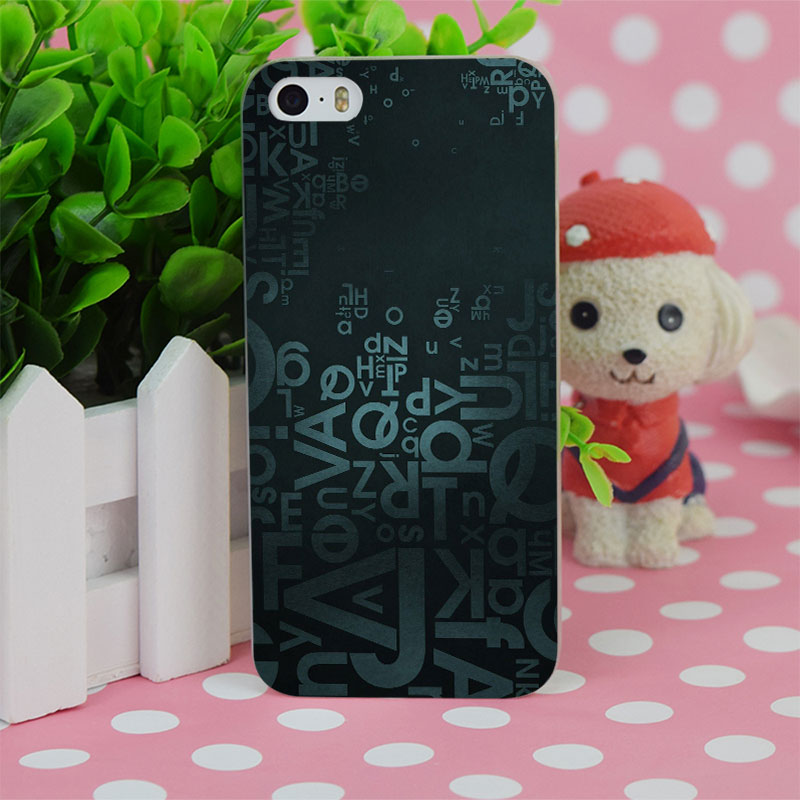 b2145 letters blue background transparent hard thin case cover for apple iphone 4 4s 5 5s se 5c 6 6s 6plus 6s plus