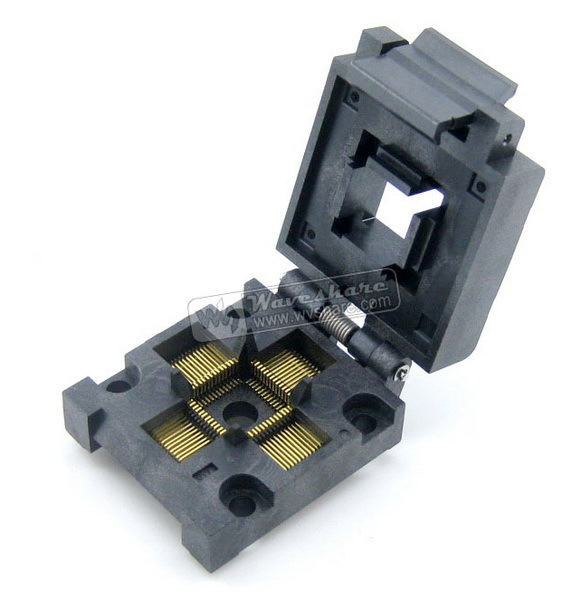module QFP52 TQFP52 LQFP52 PQFP52 FPQ-52-0.65-04 QFP Programming IC Socket Adapter Enplas 0.65mm Pitch цена 2017