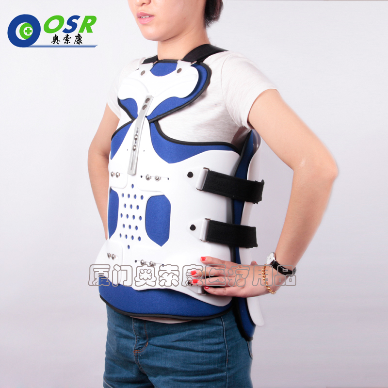 Summer Adjustable Thoracolumbar Orthosis Spine Lumbar Compression Fracture Fixation Support Waist Brace Universal White Color корсет spine support