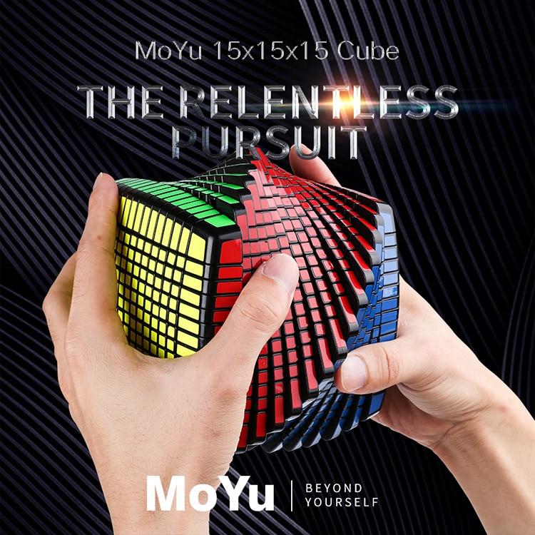 MOYU 15 couches MoYu 15x15x15 Cube avec boîte cadeau vitesse magique Puzzle 15x15 éducatifs Cubo magico jouets (120mm) en Promotion