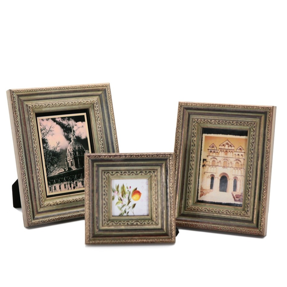Classical Pattern Creative Retro Wood Frames Artifacts Wall Window ...