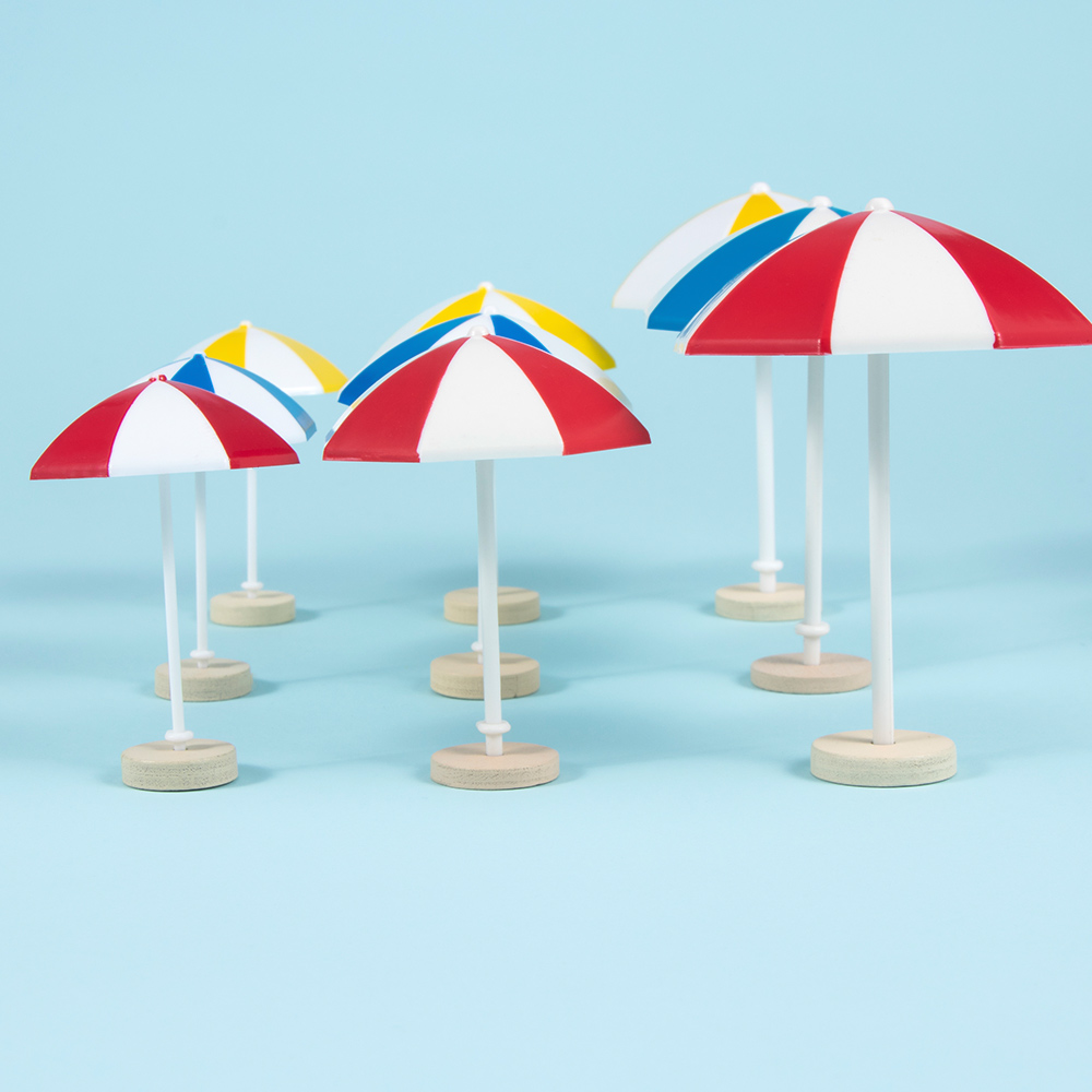 Fashion 3 Color Beach Sun Mini Umbrella Miniature PVC Landscape Decoration Modern Doll Accessories