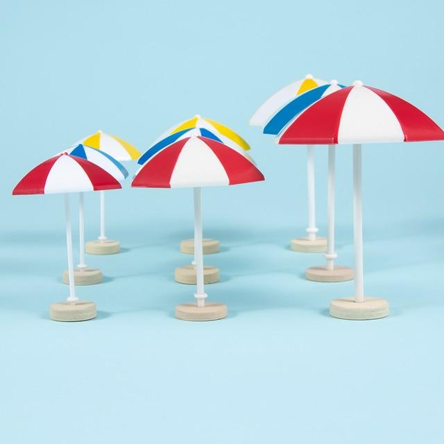 Fashion 3 Color Beach Sun Mini Umbrella Miniature PVC Landscape Decoration Modern Doll Accessories