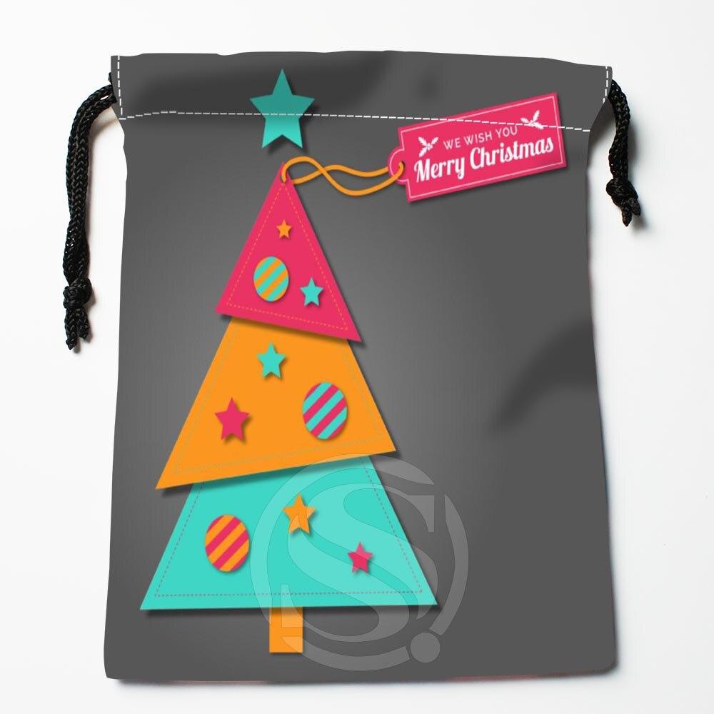 TF&140 New Christmas Tree #!19 Custom Printed Receive Bag Bag Compression Type Drawstring Bags Size 18X22cm #812#140WB